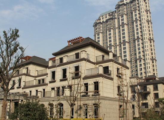 江苏奥体国际外墙多彩仿石漆涂装工程