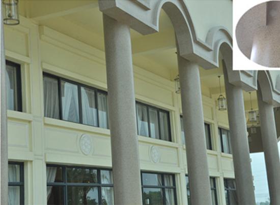 外墙多彩仿石漆罗马柱涂装工程