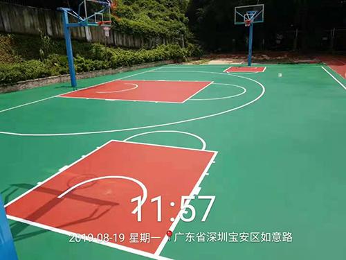 深圳石岩罗租小学丙烯酸球场如期完工